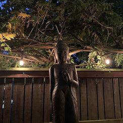 GS Standing Buddha 48%22 Antique Prayer
