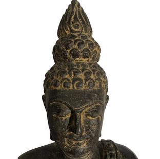 Thai Sitting Buddha Head Detail