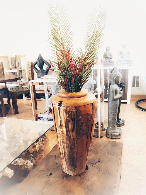Teak Erosion Vase
