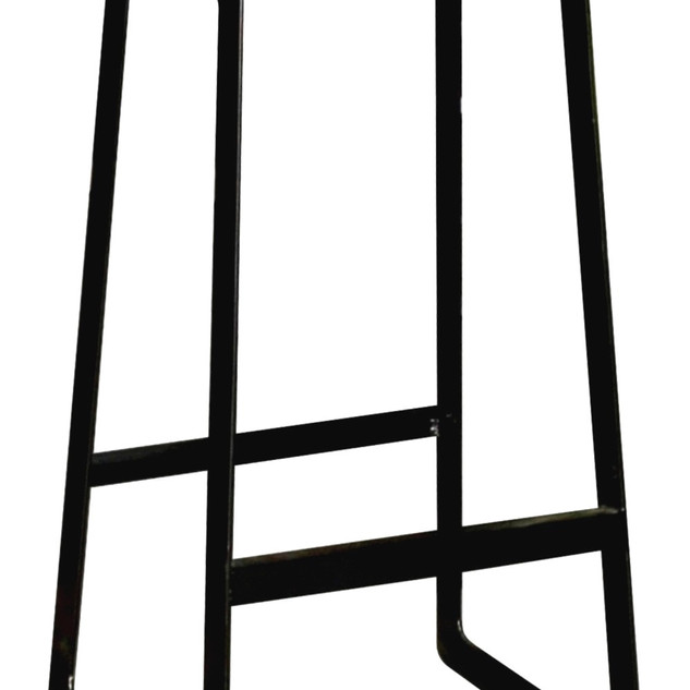 09.15042 BARSTOOL WITH TEAK SEAT -Overal
