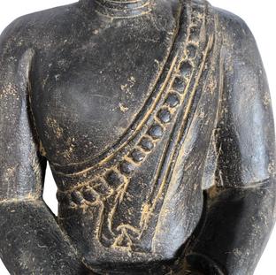 Thai Sitting Buddha Chest Detail