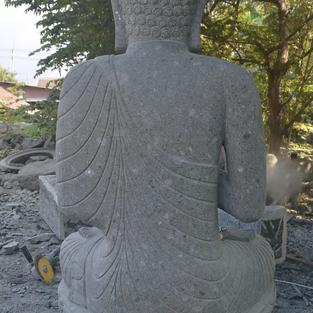 Greenstone Natural Sitting Buddha Back