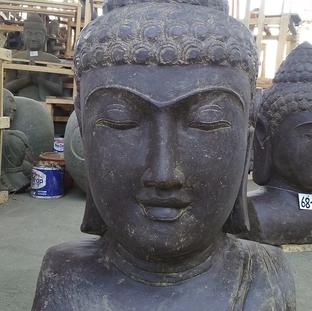Antique Finish Buddha Bust