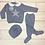Thumbnail: Juliana blue star knit set