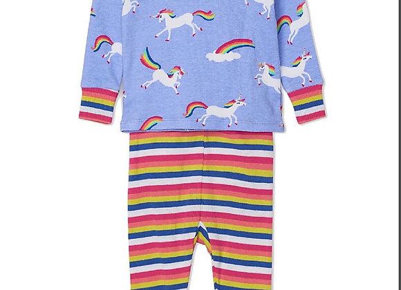 Hatley Girls Rainbow Unicorn Pyjama Set