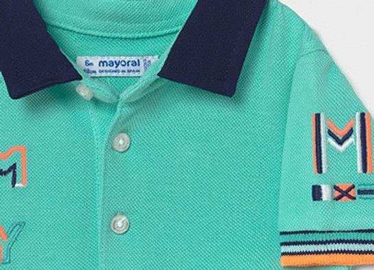 Mayoral aqua polo t-shirt
