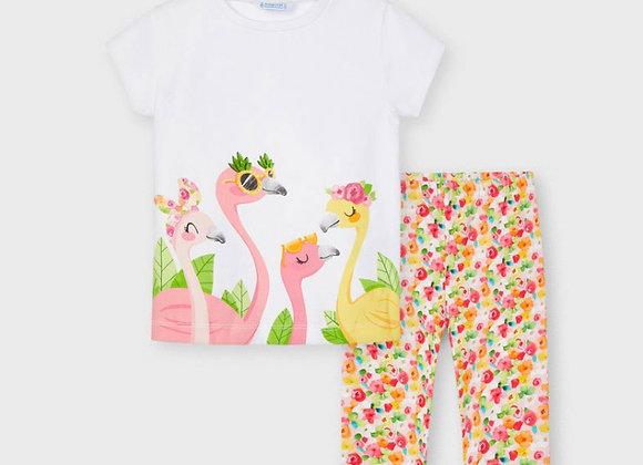 Mayoral Girl Flamingo Set