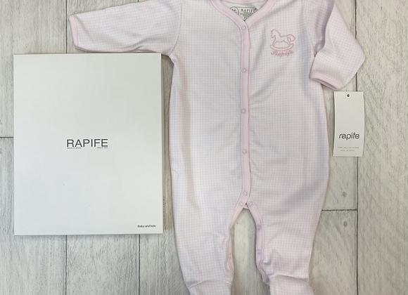 Rapife little square pink babygrow