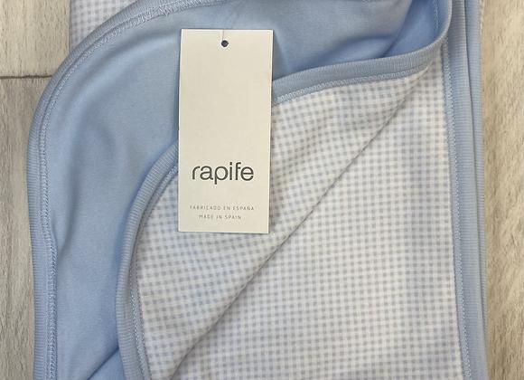 Rapife blue square blanket