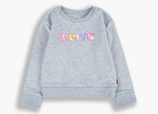 Levi's girls teen graphic crew sweatshirt