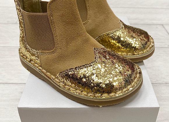 Rochy Gold Chelsea Glitter Boot