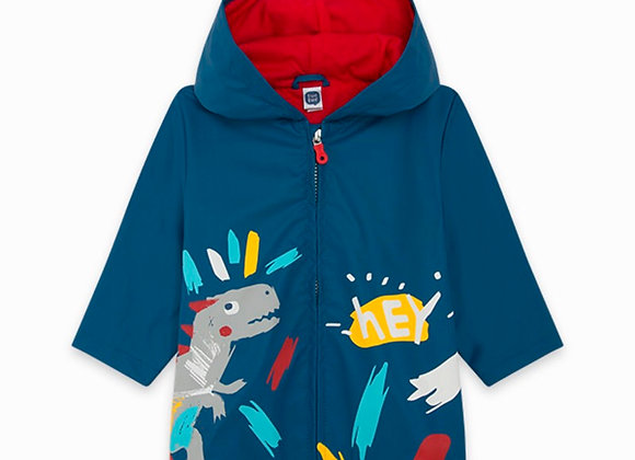 Tuc Tuc BLUE WITH HOOD AND CREST RAINCOAT FOR BOYS DRAW A REX