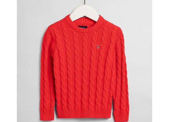 GANT Cotton Cable Crew Neck Sweater