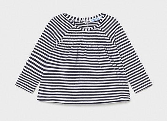 Mayoral baby girl breton stripe top