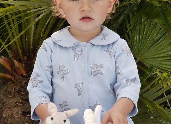 Rachel Riley blue bunny babygro