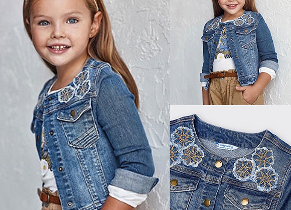 Mayoral girls denim jacket
