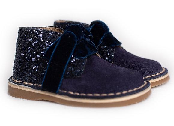 Rochy Navy Tie Glitter Boot