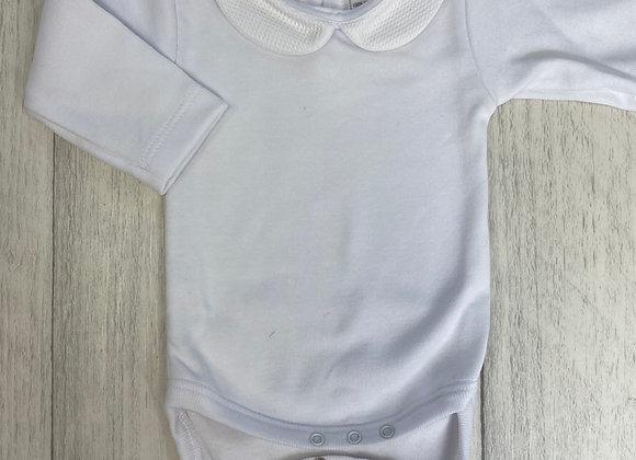 Rapife White Peter Pan Collar vest