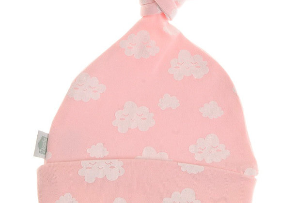 Ziggle pink clouds baby hat
