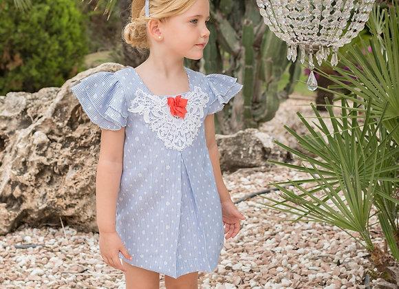 Dolce Petit Blue and Orange Dress