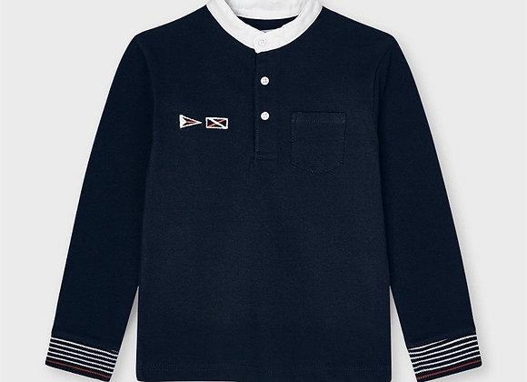 Mayoral boys grandad collar polo shirt