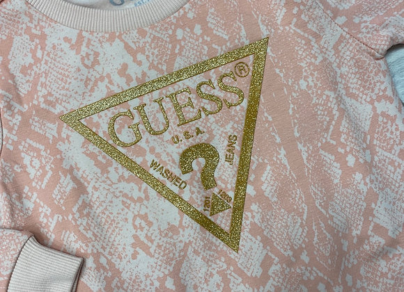 GUESS Glitter Snakeprint Sweatshirt