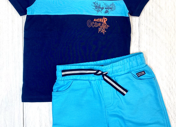Terre de Marins boys t-shirt and shirt set