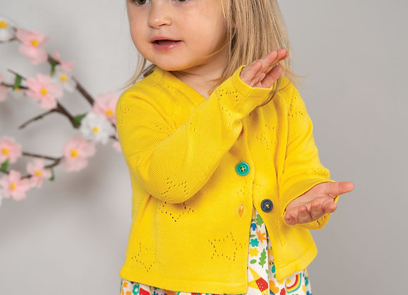 Frugi Yellow/Sunflower Knit Cardigan