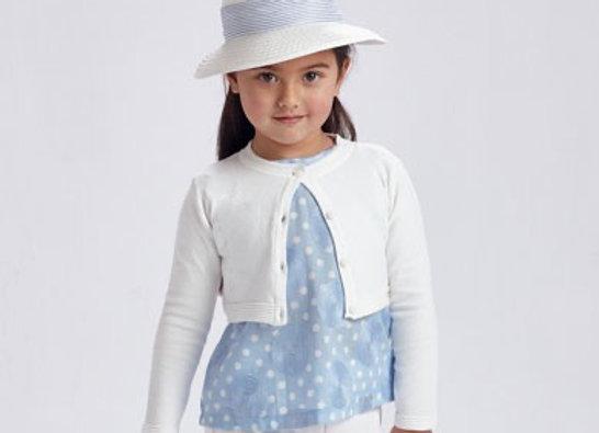 Mayoral girls white basic cardigan