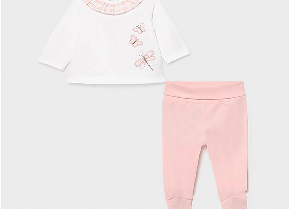 Mayoral baby girl butterfly two piece