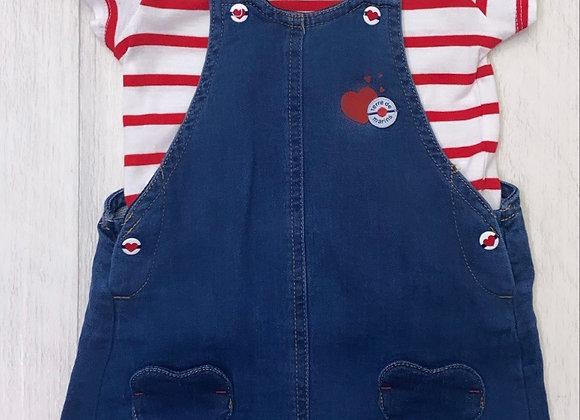 Terre de Marins baby girl denim dress set