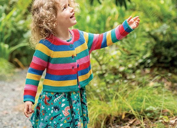 Frugi girls rainbow cardigan