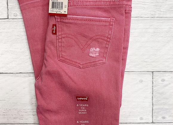 Levi's girls pink skinny rip jeans