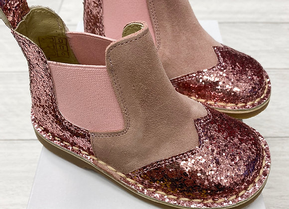 Rochy Pink Chelsea Glitter Boot