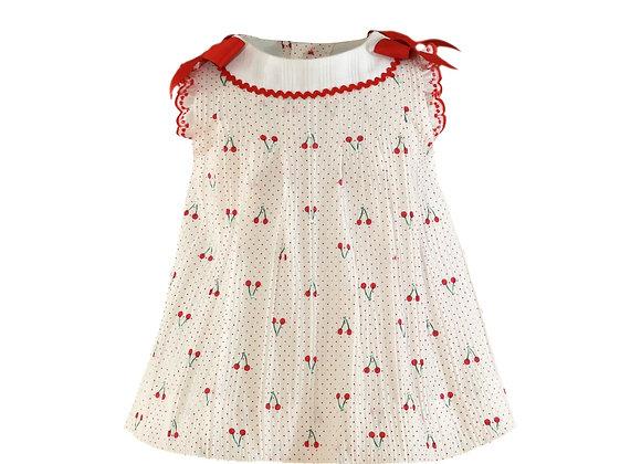 Miranda Baby Girl Cherry Dress