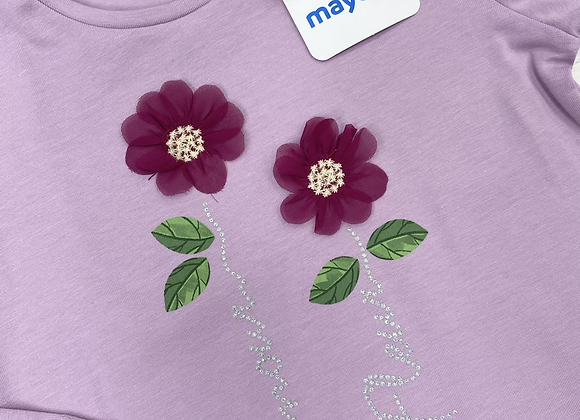 Mayoral girl lilac flower top