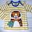 Thumbnail: Frugi Bobby Tiger Applique Top