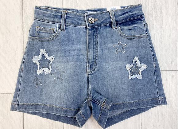 Mayoral denim star shorts