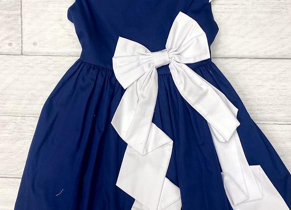 Kate Mack Navy Bow Dress
