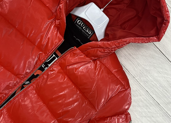 GUESS red puffer coat