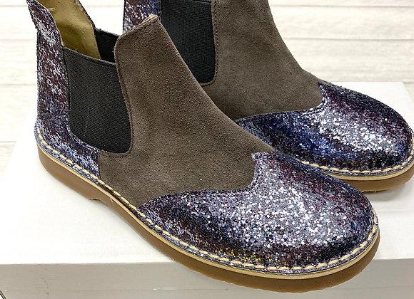 Rochy Grey Chelsea Glitter Boot