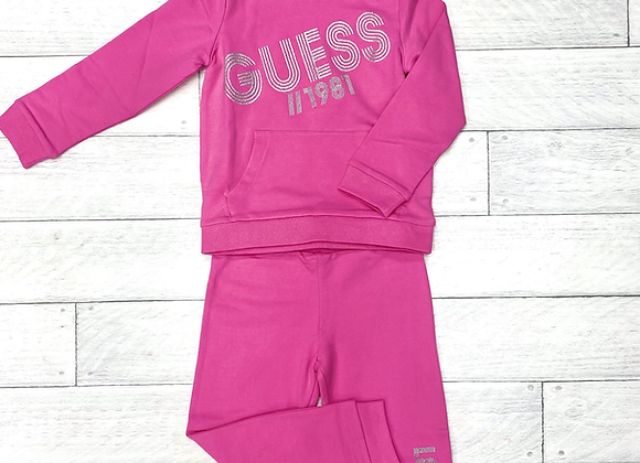 Guess girls pink tracksuit