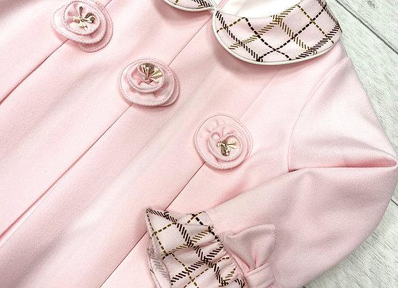 Pretty Originals Pink Aline Box Pleated Dress