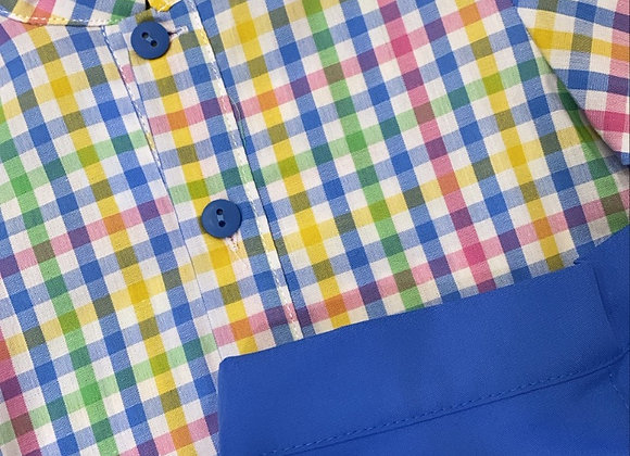 Sardon multi coloured gingham boys set