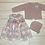 Thumbnail: Juliana lace bow dress and bonnet