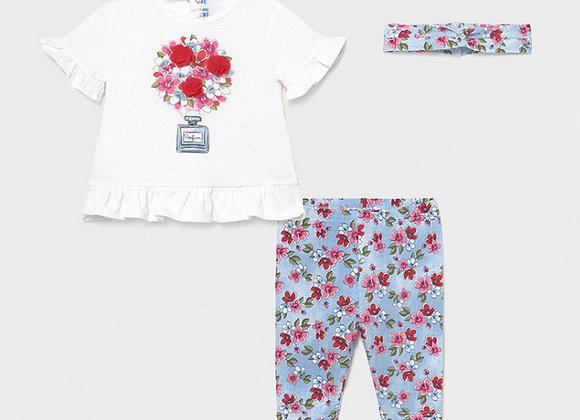 Mayoral Baby Girl floral set