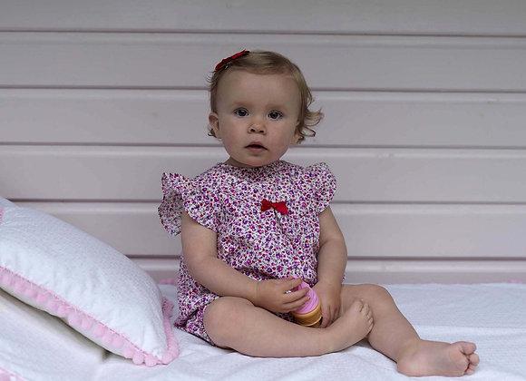 Rachel Riley baby floral romper