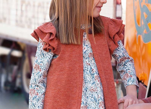 Eve long knit cardigan in spice
