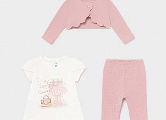Mayoral baby girl beauty set
