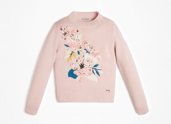 Guess Embroidery Sequin Sweater